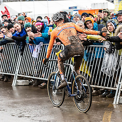 20190201: UCI CX Worlds : Dübendorf: Mathieu van der Poel celebrating his dominant victory