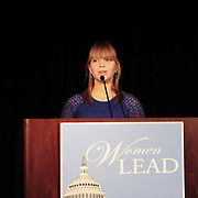 Speaker Nancy Pelosi's grand daughter speaks at a DCCC luncheon during the 2012 Democratic National Convention