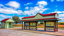 Matson Station Trail-head along the Katy Trail in Matson, MO. A Point of Interest, With Parking, Restrooms, Tables and Benches, and Wineries and Breweries Withing Walking And Riding Distance in Defiance and Augusta.