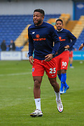 Scott Wilson (25) of Dagenham & Redbridge in the warm up during the The FA Cup match between Mansfield Town and Dagenham and Redbridge at the One Call Stadium, Mansfield, England on 29 November 2020.