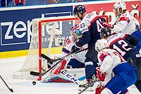 Ishockey<br /> VM 2015<br /> 06.05.2015<br /> Norge v Slovakia 3:2<br /> Foto: imago/Digitalsport<br /> NORWAY ONLY<br /> <br /> Tomas Surovy (SVK) is going to score against Goalie Lars Haugen (NOR)