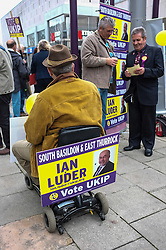 Members of UKIP in Basildon Town Centre canvassing for support in the forthcoming general election. April 2015