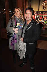 Chef JOHN TORODE and his wife JESSICA at the gala opening night of Cirque du Soleil's Varekai at the Royal Albert Hall, London on 5th January 2010.