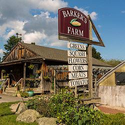 The farm stand at Barker's Farm in Stratham, New Hampshire.