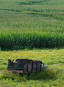 Old spreader in the cornfield