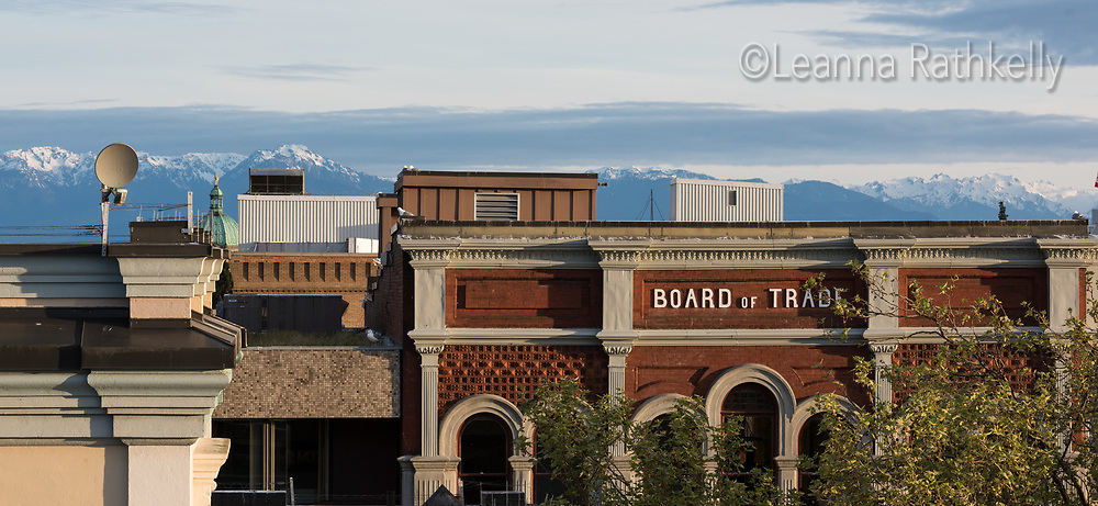 The Board of Trade building, originally constructed in 1892, is located in the heart of the Old Town area of downtown Victoria, a few metres from Wharf Street and the Inner Harbour.