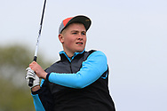 Sean Calvert (Ballyneety) on the 1st tee during Round 2 of the Connacht U16 Boys Amateur Open Championship at Galway Bay Golf Club, Oranmore, Galway on Wednesday 17th April 2019.<br /> Picture:  Thos Caffrey / www.golffile.ie
