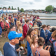 Spectators in the boat park <br /> <br /> Racing at the Henley Royal Regatta on The Thames river, Henley on Thames, England. Saturday 6 July 2019. © Copyright photo Steve McArthur / www.photosport.nz