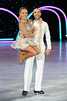 Alex Beresford and Brianne Delcourt at the Dancing on Ice Live UK Tour photocall , at SSE Arena Wembley in London, UK photo by <br /> Roger Alarcon