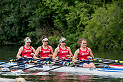 Henley-on-Thames. United Kingdom.  <br /> Princess Grace Challenge Cup. Hollandia Roeiclub, NED W4X. Bow, L SCHEENARD, O. van ROOIJEN, A. SOUWER and N. BEUKERS.<br /> 2017 Henley Royal Regatta, Henley Reach, River Thames. <br /> <br /> 11:30:09  Saturday  01/07/2017   <br /> <br /> [Mandatory Credit. Peter SPURRIER/Intersport Images.