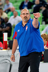 Aleksandar Dzikic, head coach of Serbia, during basketball match between National teams of Serbia and Spain in for third place match of U20 Men European Championship Slovenia 2012, on July 22, 2012 in SRC Stozice, Ljubljana, Slovenia. Spain defeated Serbia 67:66. (Photo by Matic Klansek Velej / Sportida.com)