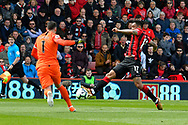 Joshua King (17) of AFC Bournemouth shoots at goal and saved by Hugo Lloris (1) of Tottenham Hotspur during the Premier League match between Bournemouth and Tottenham Hotspur at the Vitality Stadium, Bournemouth, England on 4 May 2019.