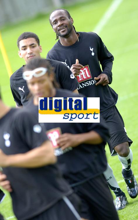Photo: Daniel Hambury.<br />Tottenham Hotspur training session. 07/09/2006.<br />New Spurs signing Pascal Chimbonda.