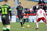 Forest Green Rovers Gavin Gunning(16) on the ball during the EFL Sky Bet League 2 match between Stevenage and Forest Green Rovers at the Lamex Stadium, Stevenage, England on 26 January 2019.