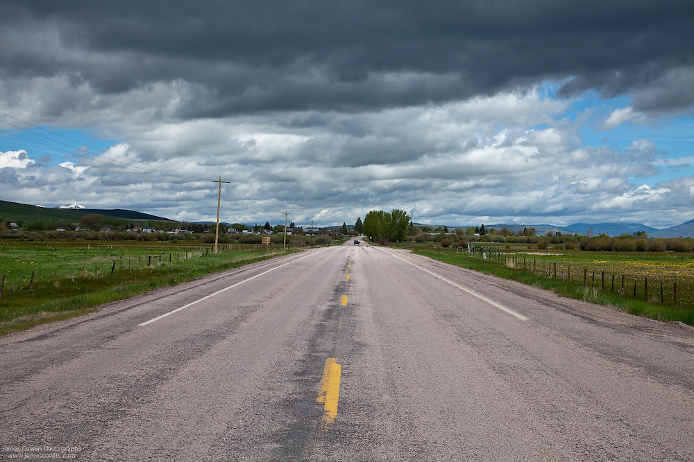 US Route 89 in southern Idaho along the Oregon Trail-Bear Lake Scenic Byway