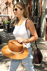 July 19, 2017 - New York, New York, United States - Actors Jennifer Aniston and Justin Theroux leave their Greenwich Village apartment on the way out of the City on July 19 2017 in New York City  (Credit Image: © Philip Vaughan/Ace Pictures via ZUMA Press)