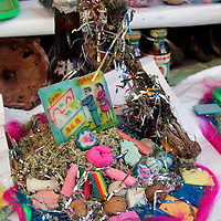 South America, Bolivia, La Paz. Potion for luck and proseprity at the Witch Doctor's Market of La Paz.