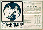 Advertisement for a caffeine-free malted drink. From the French periodical 'Le Flambeau', 18 September 1915. Beverage First World War 1914-1918.