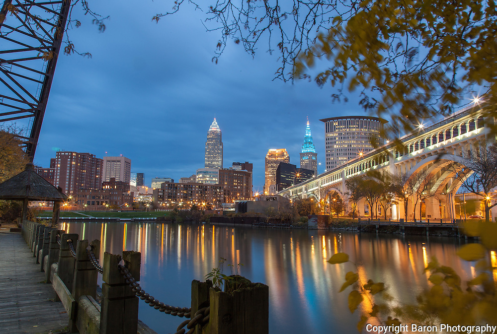 Cleveland skyline from the Flats