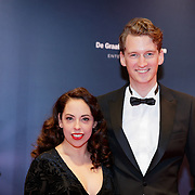 NLD/Amsterdam/20181022 - Inloop premiere Evita, Chaira Re en partner