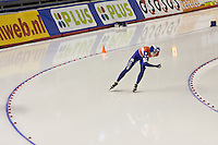Calgary - December 5, 2009 - Essent ISU World Cup Speedskating at the Olympic Oval in Calgary.  Marrit Leenstra of The Netherlands races in the A Division of the women's 1500m event.  Leenstra finished 17th in 1:57.57...©2009, Sean Phillips.http://www.Sean-Phillips.com