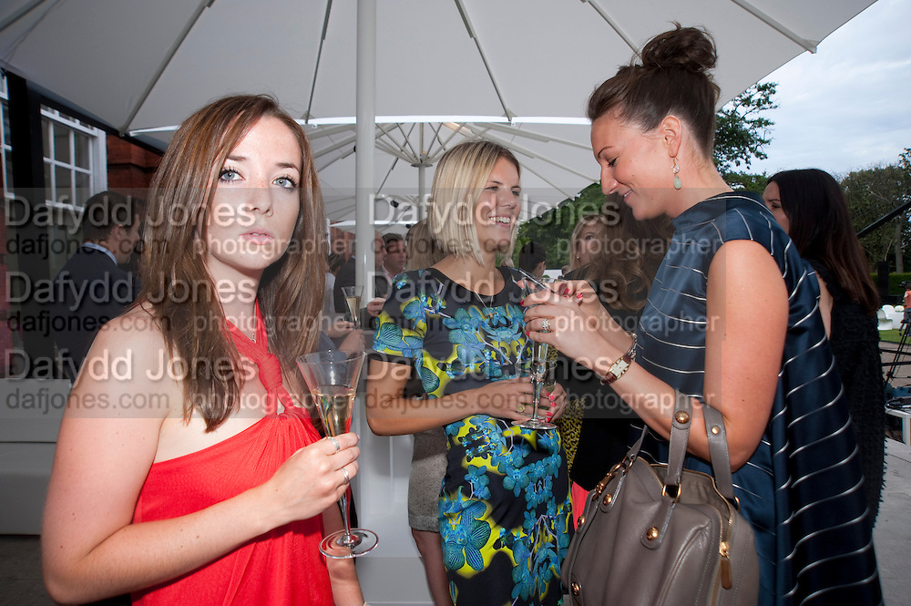 NAOMI STANLEY; GINNIE FRASER; BLUE GAYON, Alexandra Shulman, Editor of Vogue & Phil Popham, Managing Director of Land Rover<br /> host the 40th Anniversary of Range Rover. The Orangery at Kensington Palace. London. 1 July 2010. -DO NOT ARCHIVE-© Copyright Photograph by Dafydd Jones. 248 Clapham Rd. London SW9 0PZ. Tel 0207 820 0771. www.dafjones.com.