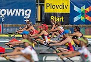 Plovdiv, Bulgaria, 10th May 2019, FISA, Rowing World Cup 1,  Boat Park area, USA Rowings Women's Squad, USA3,  W2-, Bow, Meghan MUSNICKI and Brooke MOONEY  at the Start,[© Peter SPURRIER]