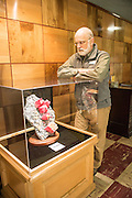 Julian Grey, Director of the Rice Northwest Museum with The Alma Rose crystalis