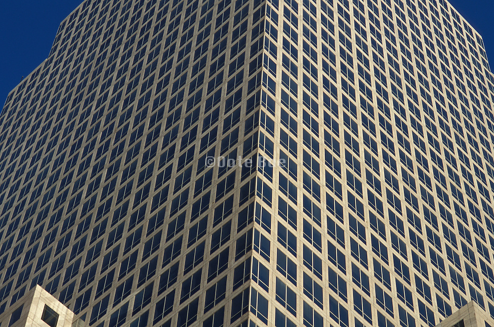 Close up of a geometrical formed office building
