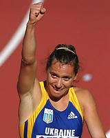 Friidrett. VM 2001 Edmonton. PINTUSEVICH-BLOCK, Zhanna     Ukraine<br />               Leichtathletik   WM 2001    100m Finale