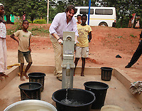 Today marks the 25th annive Jonathan Ross visits the African Women's Development Fund in Accra, Ghana. Jonathan Ross pumping water. Jonathan Ross is in Ghana with Comic Relief to mark the 25th anniversary of Red Nose Day. Thirteen Red Nose Days later it has raised over £600million and over the last 25 years that money will have helped 50 million people across Africa, the world's poorest countries and here in the UK. Keep up the good work. rednoseday.com ©Christian Thompson