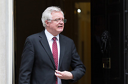 London, September 5th 2017. Secretary of State for Exiting the European Union David Davis leaves the first UK cabinet meeting at Downing Street after the summer recess. ©Paul Davey
