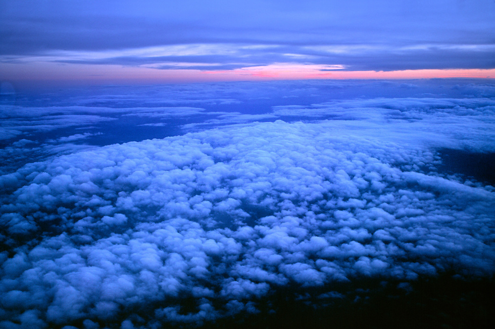 A new day begins at 30,000 feet above the Pacific Ocean.