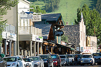 Scenic of downtown Jackson, WY.