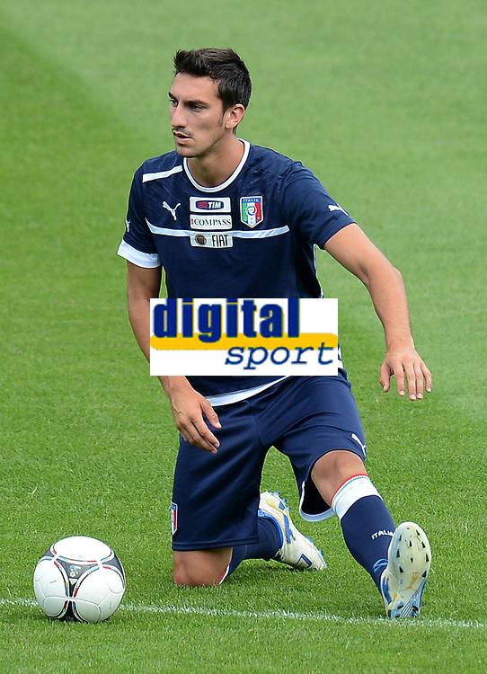 "Davide ASTORI (Italia)<br /> Cracovia 07/06/2012  ""Stadio Municipale di Cracovia""<br /> Allenamento nazionale italia presso lo Stadio Municipale di Cracovia<br /> Football Calcio Euro 2012<br /> Foto Insidefoto Alessandro Sabattini<br /> <br /> <br /> <br /> Fiorentina captain Davide Astori dies suddenly aged 31 . <br /> Astori was staying a hotel with his team-mates ahead of their game on Sunday away at Udinese when he passed away. <br /> Foto Insidefoto"
