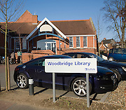 Woodbridge Library car park, Suffolk, England