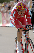London 7th July 2007: Cofidis' Rik Verbrugghe (#148) finished 25th overall at +39 seconds in the opening prologue of the 2007 Tour de France cycling race.