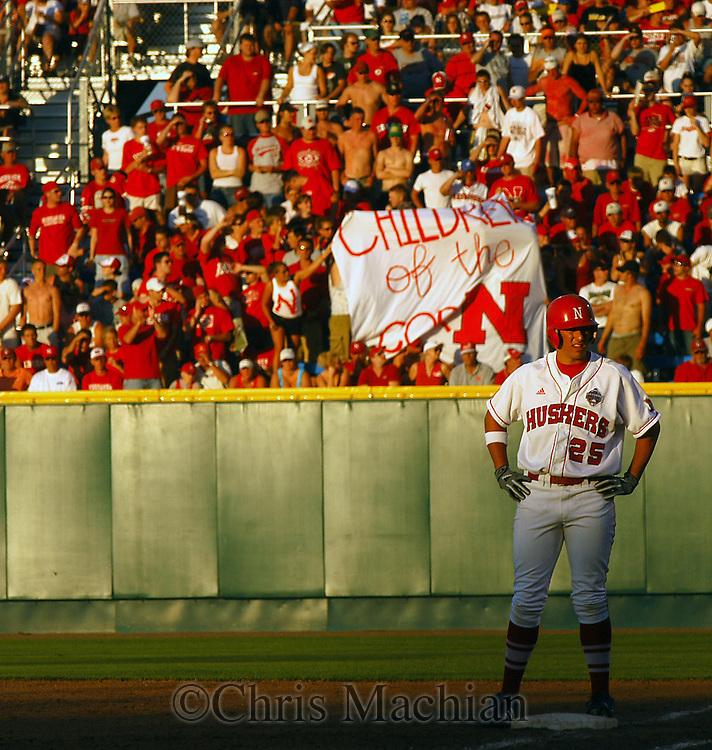 6/17/05 Omaha, NE Nebraska's Ryan Bohanan  at the College World Series at Rosenblatt Stadium..(Chris Machian/Prairie Pixel Group)