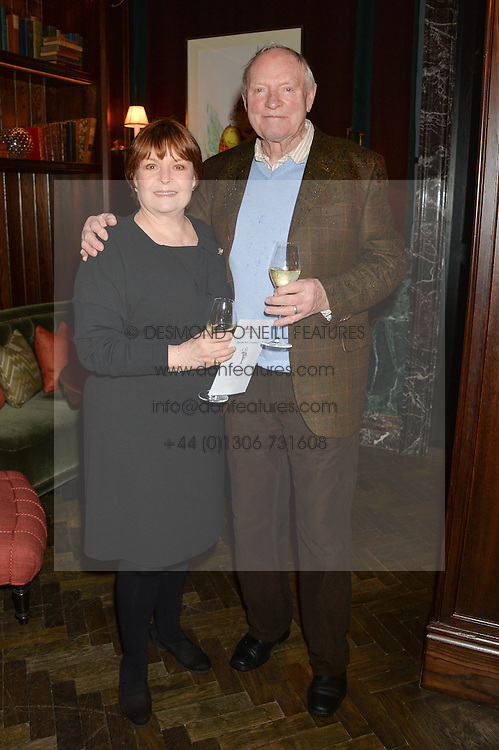 ISLA BLAIR and JULIAN GLOVER at the Installation And Reveal Of Gerald Scarfe's Exclusive Artworks In Scarfes Bar at the Rosewood Hotel, 252 High Holborn, London on 7th April 2014.