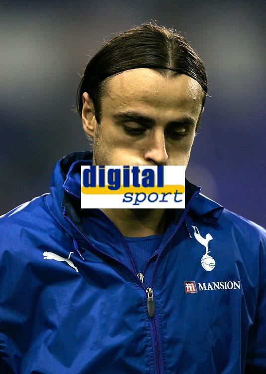 Photo: Tom Dulat.<br /> Tottenham Hotspur v Getafe. UEFA Cup. 25/10/2007.<br /> Dimitar Berbatov of Tottenham minutes before kick off.