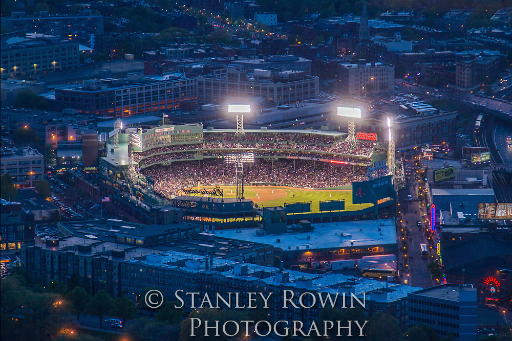 Red Sox, Fenway Park Aerial Night Scene
