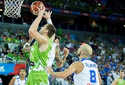 Uros Slokar of Slovenia during basketball match between Slovenia vs Greece at Day 5 in Group C of FIBA Europe Eurobasket 2015, on September 9, 2015, in Arena Zagreb, Croatia. Photo by Vid Ponikvar / Sportida