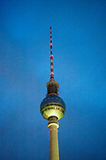 A view of the TV-tower (Berliner Fernsehturm) at Alexanderplatz in Berlin, Germany, October 14, 2016.