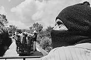 Member of the Zapatista Army of National Liberation (EZLN) in Cerro Huitepec, Chiapas, Mexico. March / 2006.<br /> <br /> (Original photograph on 35mm film, copied to paper and scanned to digital)