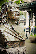 Bust of Chief Seattle in Pioneer Square - Seattle, WA