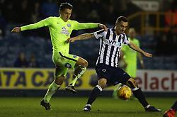 Tom Nichols of Peterborough United battles with Shaun Williams of Millwall - Mandatory by-line: Joe Dent/JMP - 28/02/2017 - FOOTBALL - The Den - London, England - Millwall v Peterborough United - Sky Bet League One