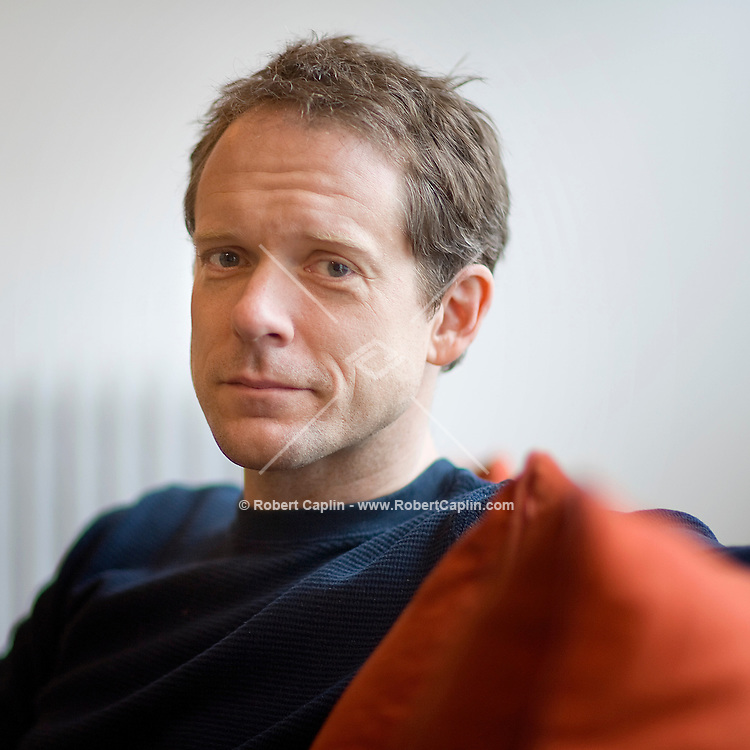 Playwright John Kolvenbach in his home in New York, U.S.