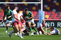 Rugby Union - 2020 / 2021 Gallagher Premiership - Round 17 - London Irish vs Harlequins - Brentford Community Stadium<br /> <br /> London Irish's Ben Loader in action during this afternoon's game.<br /> <br /> COLORSPORT