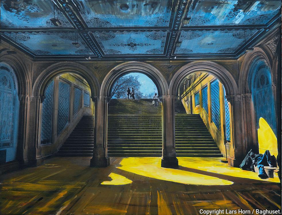 NYC in Colors  Horn / Andersen<br /> In to  the light<br /> 100x130 cm    pris kr. 12.500,- <br /> Dato: 23.11.13<br /> Foto:  Lars Horn / Baghuset
