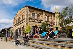 Cafe at Gorlitzer park, Kreuzberg, Berlin, Germany